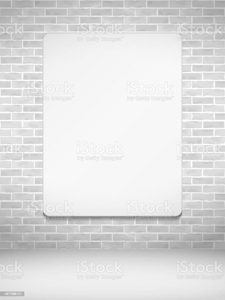 Vertical Poster na Parede de Tijolo - ilustração de arte vetorial