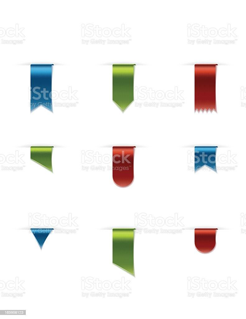 Vertical Satin Ribbons vector art illustration