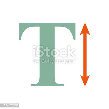 istock Vertical Scale Icon on Transparent Background 1284470796