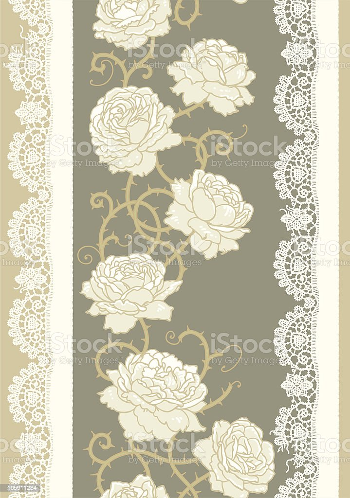 Vertical Seamless Pattern. vector art illustration