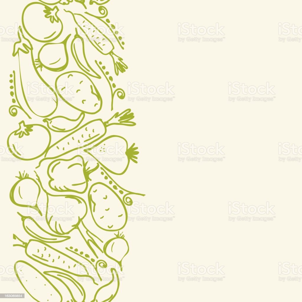 vertical seamless pattern with vegetables royalty-free stock vector art