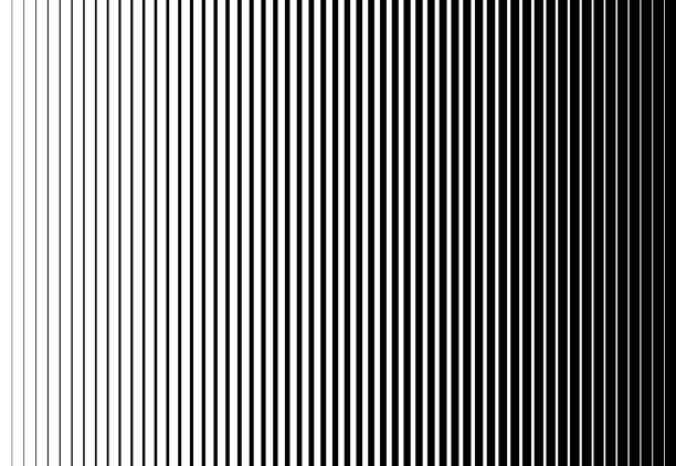 Vertical speed line halftone pattern thick to thin. Vector illustration Vertical speed line halftone pattern thick to thin. Vector illustration. striped stock illustrations
