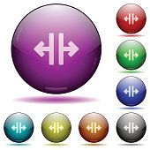 Vertical split glass sphere buttons