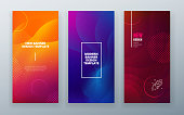 Vertical stories sale banner background for social networks. Colorful halftone gradients.background modern template design for web. Cool gradients. Future geometric patterns