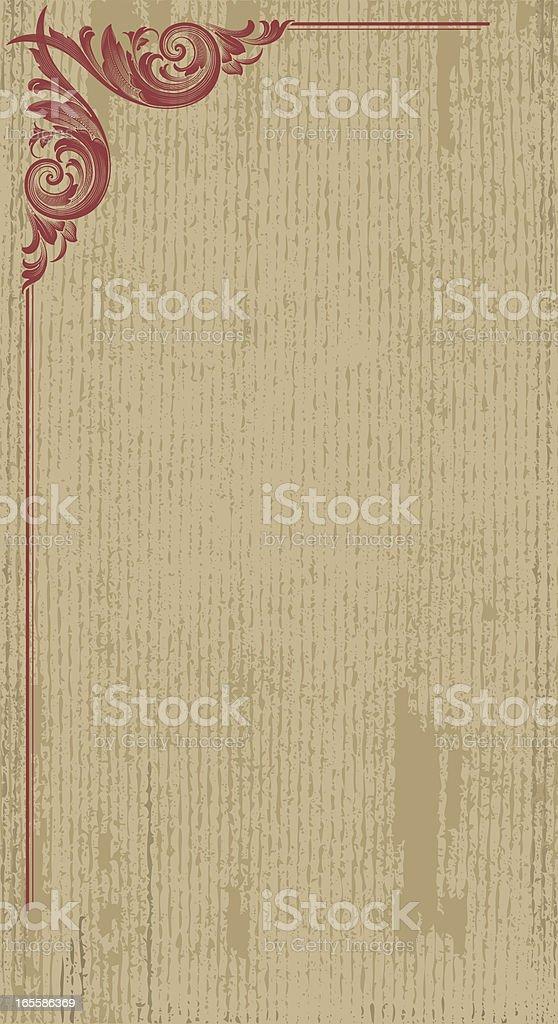 Vertical Textured Banner royalty-free stock vector art