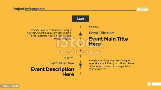 Vertical timeline slide 1
