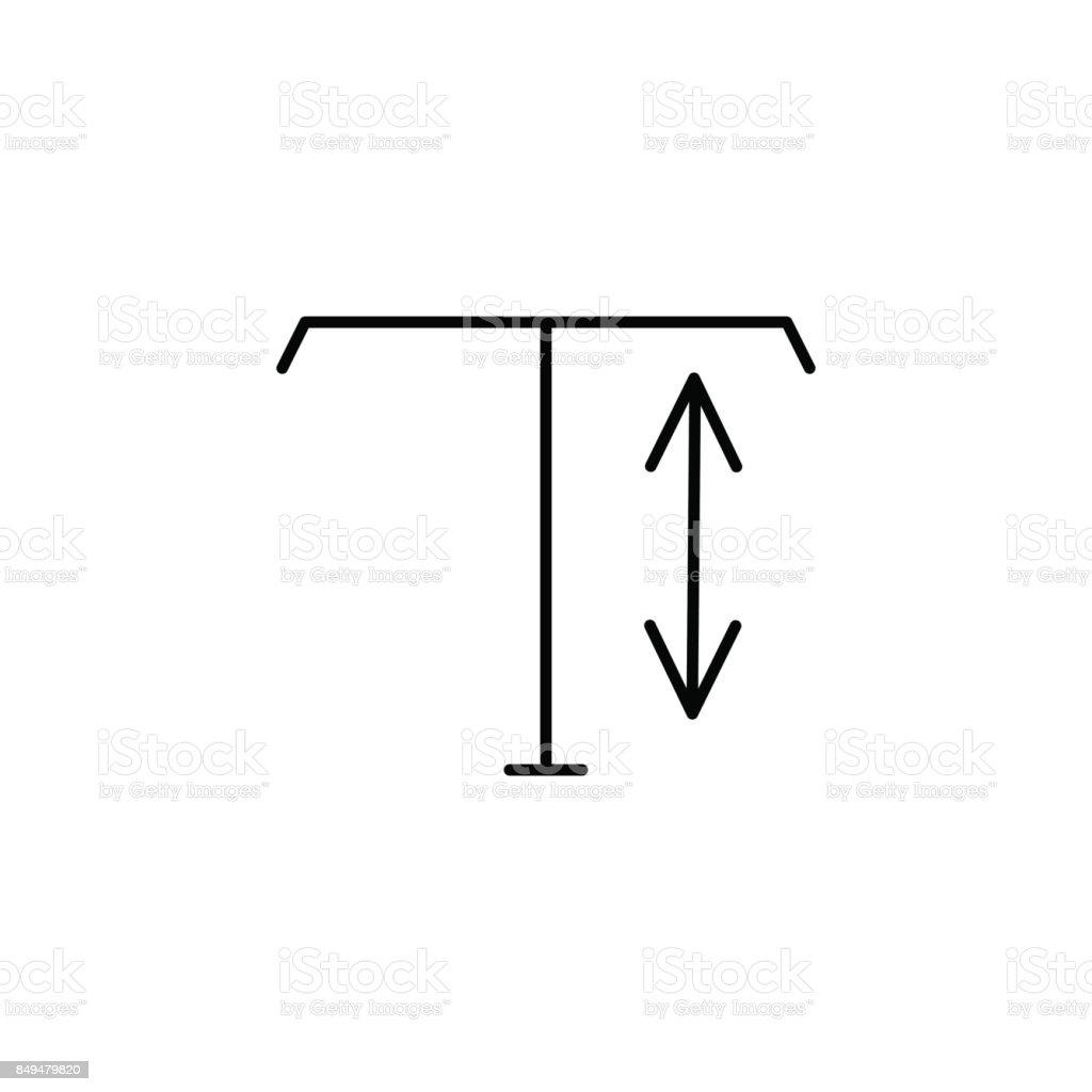 vertical type tool icon vector art illustration
