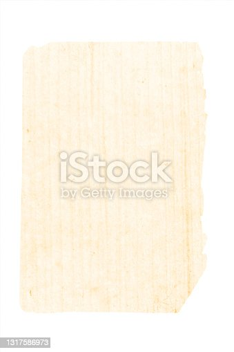 istock A vertical vector illustration of a crumpled creased blank beige colored old frayed paper  backgrounds torn and weathered from the edges and corners 1317586973