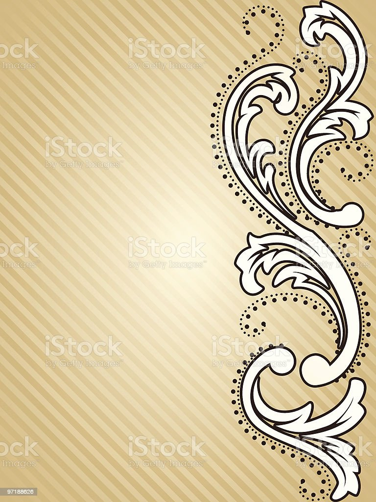 Vertical vintage sepia background royalty-free stock vector art