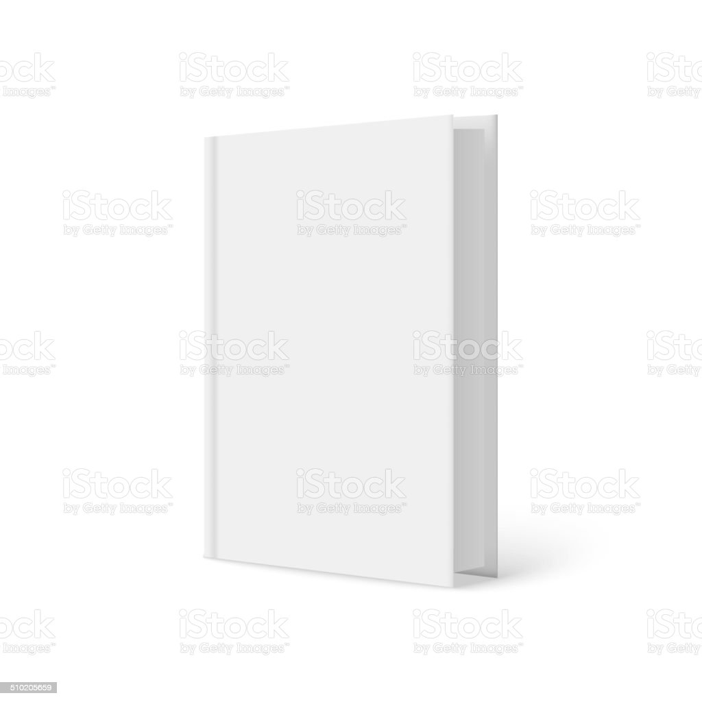 Vertically standing template books on a white background. vector art illustration