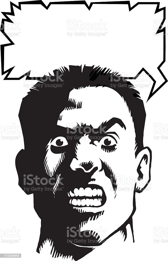Very Angry Man royalty-free stock vector art