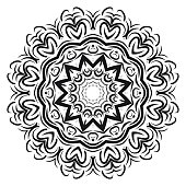 Very beautiful flower mandala. decorative vector. gold, black color. vector illustration.