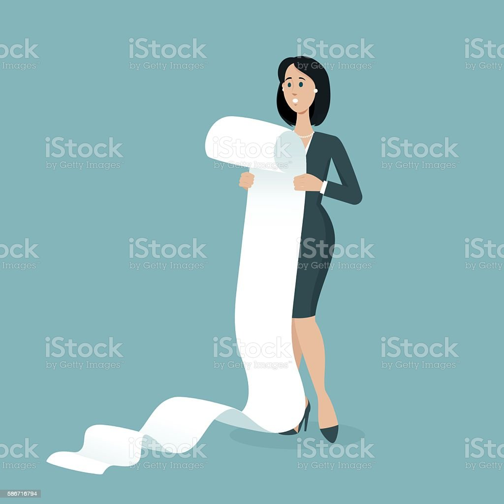 Very big list with tasks vector art illustration