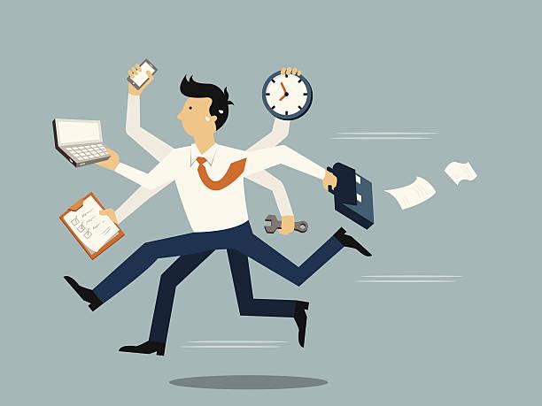 ilustrações de stock, clip art, desenhos animados e ícones de negócios muito ocupado - important
