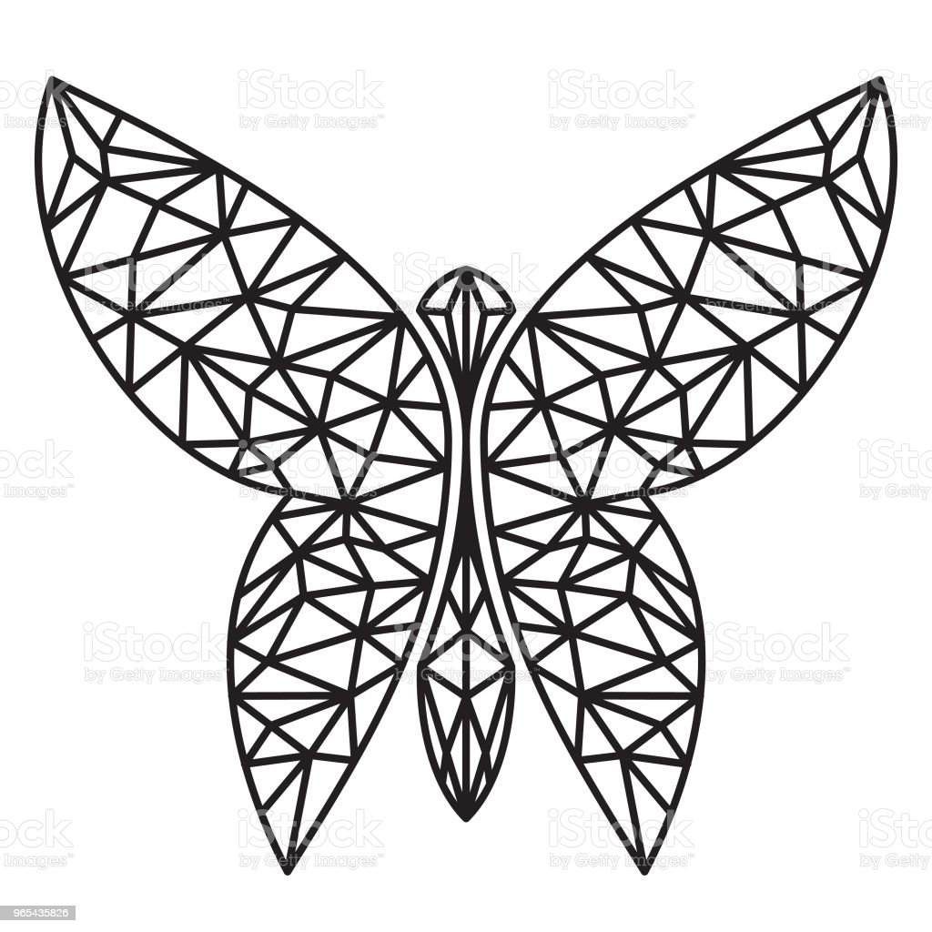 Very creative, Butterfly icon vector in graphic geometric style royalty-free very creative butterfly icon vector in graphic geometric style stock illustration - download image now