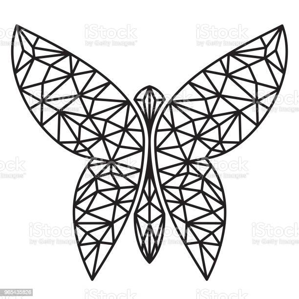 Bardzo Kreatywny Wektor Ikony Motyla W Graficznym Stylu Geometrycznym - Stockowe grafiki wektorowe i więcej obrazów Abstrakcja