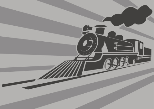 Very fast old steam train