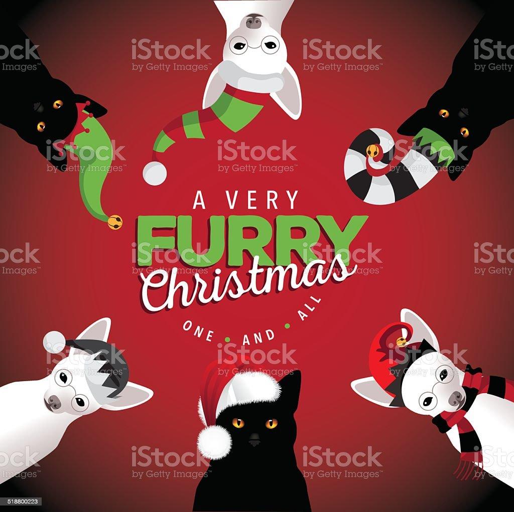 Ilustración De Muy Mascota Navidad Perros Y Gatos Y Más Banco De