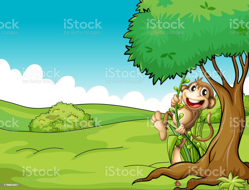 very happy monkey royalty-free very happy monkey stock vector art & more images of animal