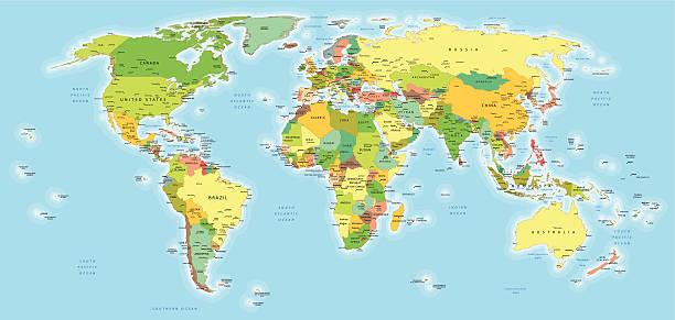 非常に高いディテールワールドマップ - 南極地図点のイラスト素材/クリップアート素材/マンガ素材/アイコン素材