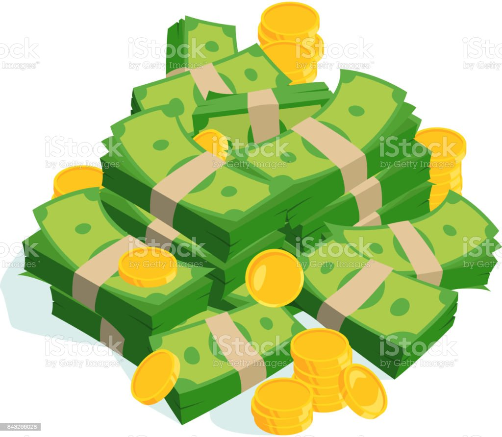 royalty free big money pile vector heap of cash flat cartoon rh istockphoto com Money Clip Art free clipart pile of money