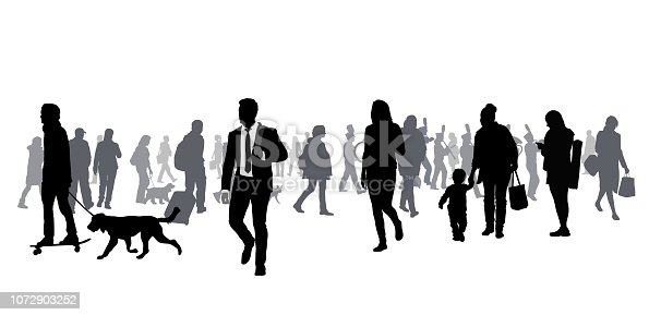 istock Very Large Crowd Walking 1072903252
