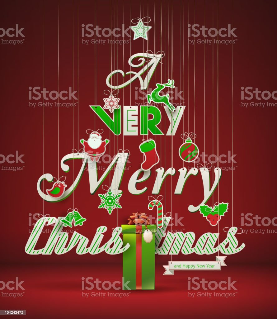 'A Very Merry Christmas and Happy New Year' royalty-free a very merry christmas and happy new year stock vector art & more images of 2013