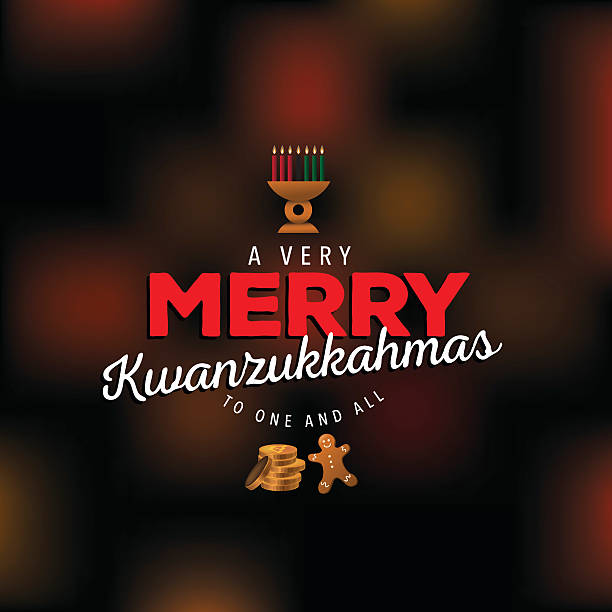 Joyeux Kwanzukkahmas design - Illustration vectorielle