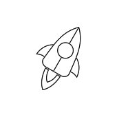 Very Useful Spaceship Line Icon.