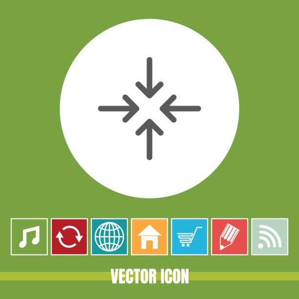 çok yararlı vektör simgesi dört ok bonus simgeleri ile çok yararlı mobil app, yazılım ve web için - start stock illustrations