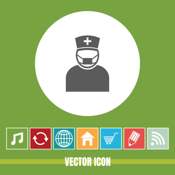 Very Useful Vector Icon Of Nurse with Bonus Icons Very Useful For Mobile App, Software & Web Very Useful Vector Icon Of Nurse. male nurse stock illustrations