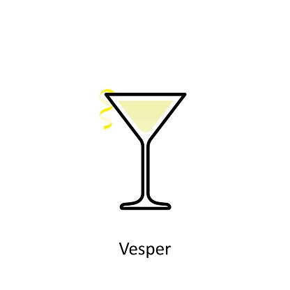 Icono de Cóctel Vesper en estilo plano