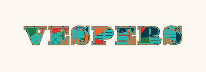 Arte de la palabra de las vísperas concepto ilustración
