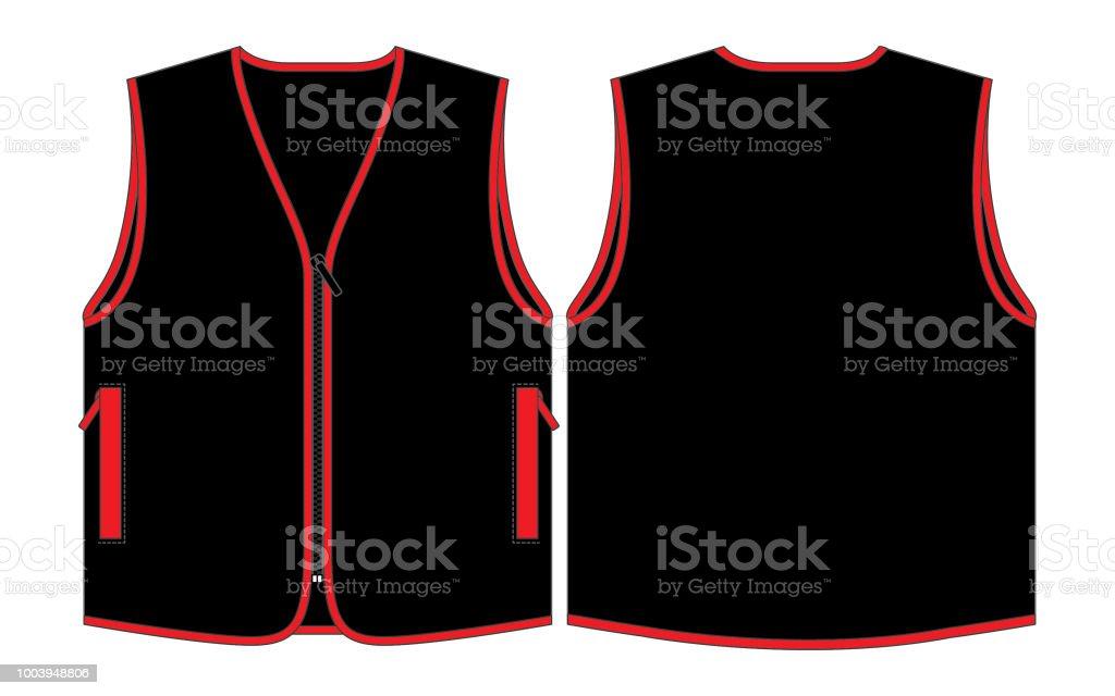 vest design for template stock vector art more images of back
