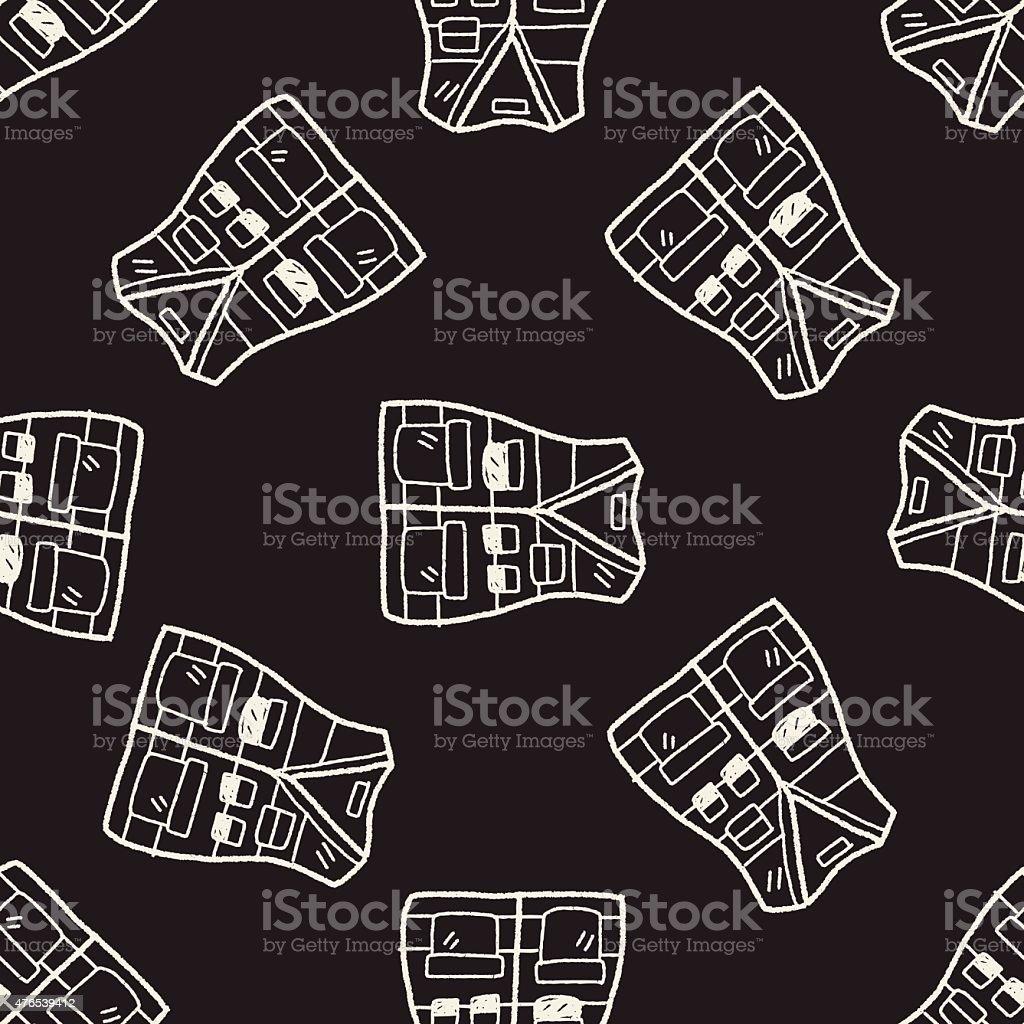 Patrón sin costuras fondo Chaleco Garabato ilustración de patrón sin  costuras fondo chaleco garabato y más 97422f9c46b1