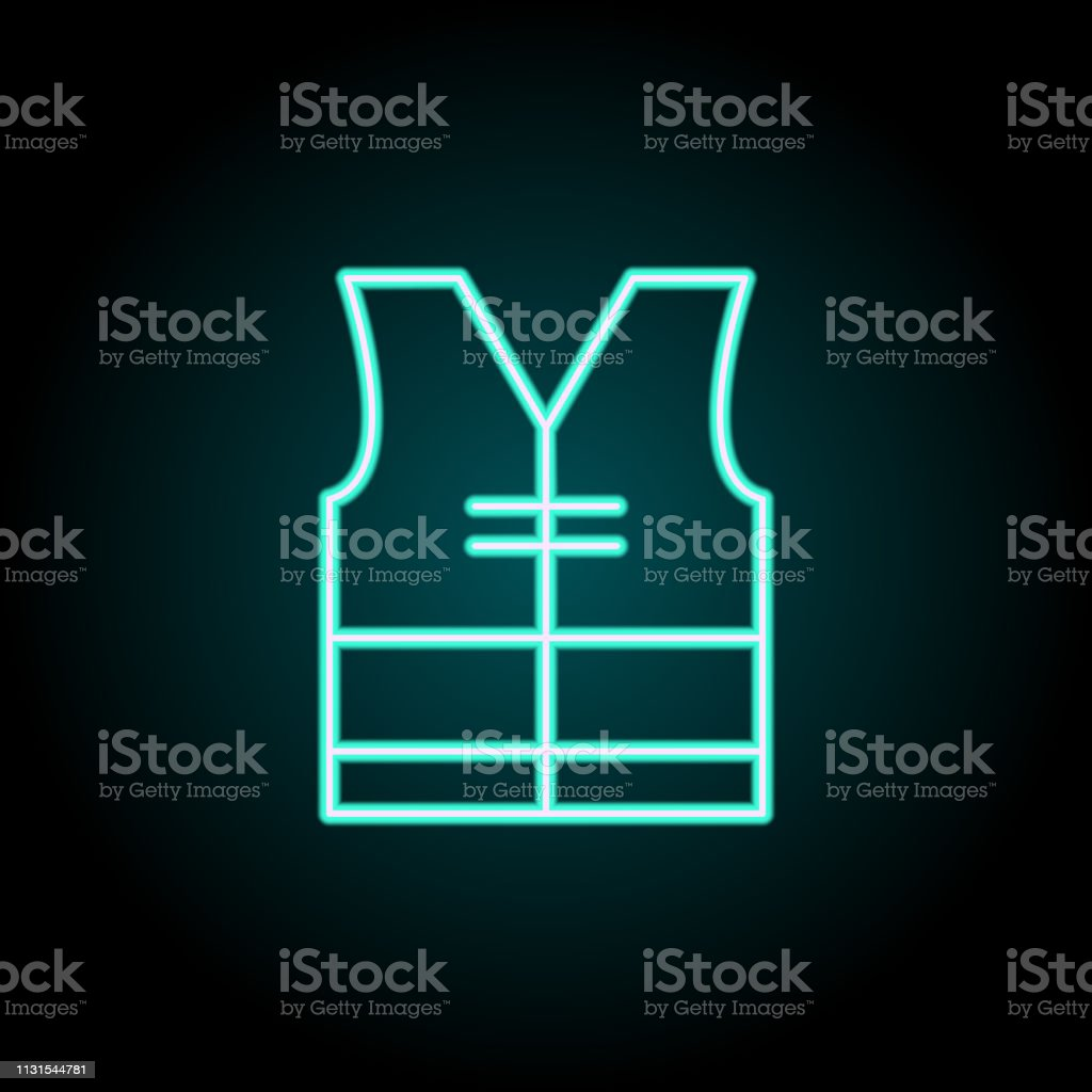 Vest Icon Elements Of Construction In Neon Style Icons Simple Icon