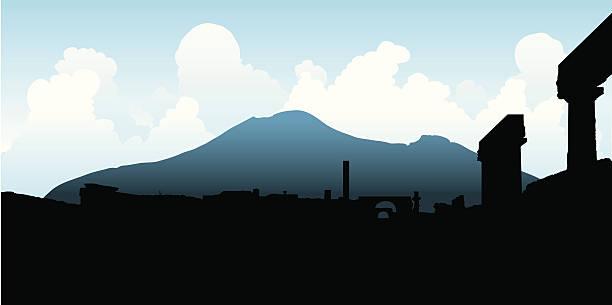 vesuv in pompeji - pompeii stock-grafiken, -clipart, -cartoons und -symbole