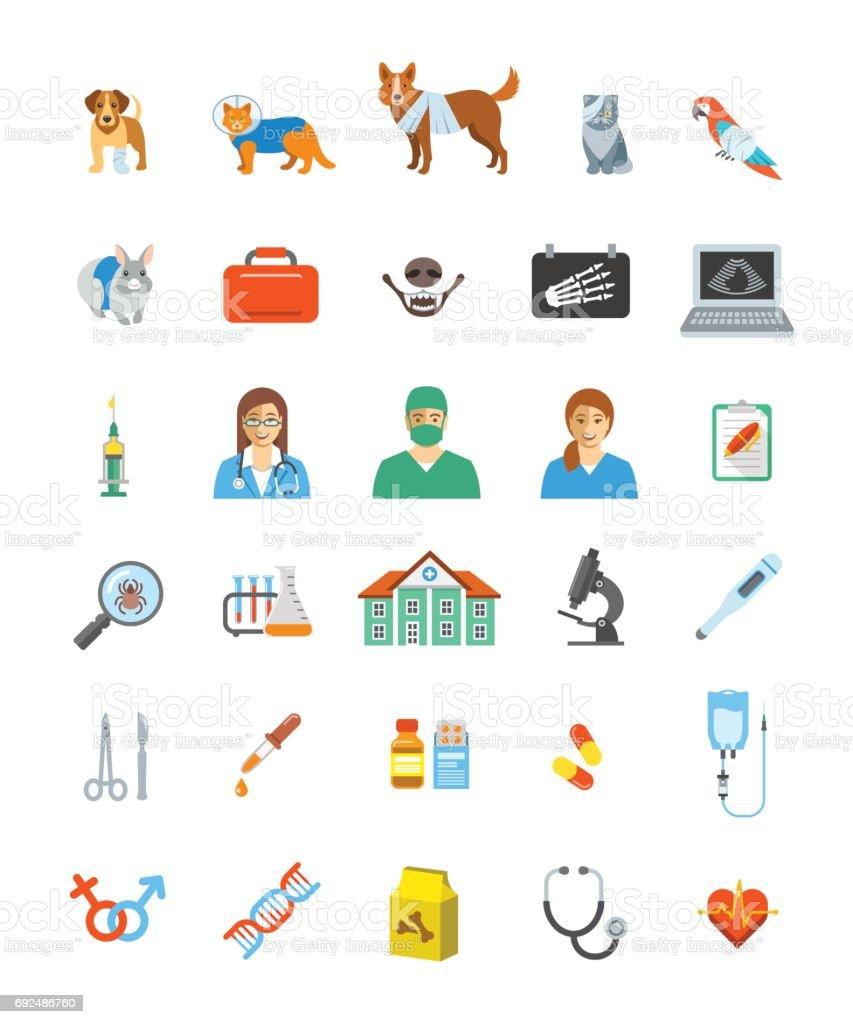獣医クリニックのサービスのベクトルのアイコン ベクターアートイラスト
