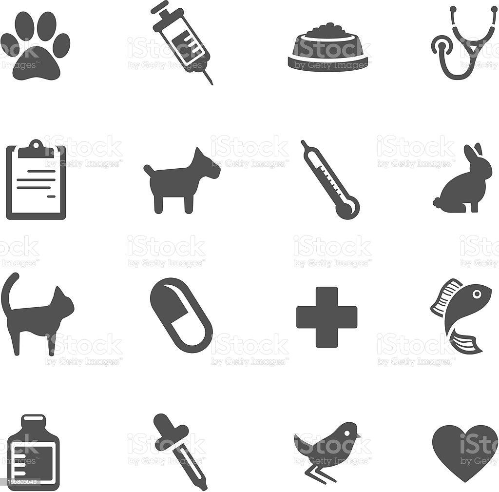 Veterinario símbolos - ilustración de arte vectorial
