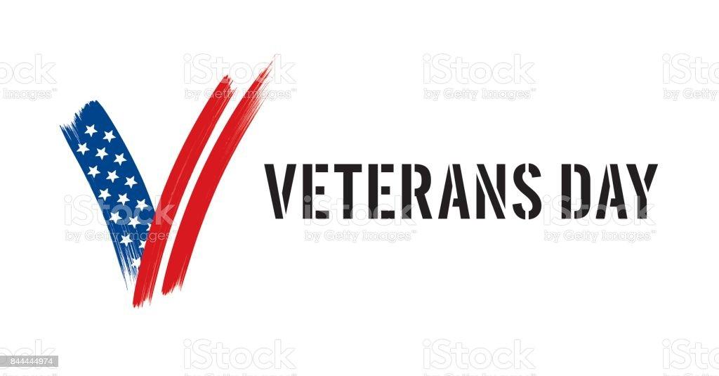 Veterans day background - Illustration vector art illustration