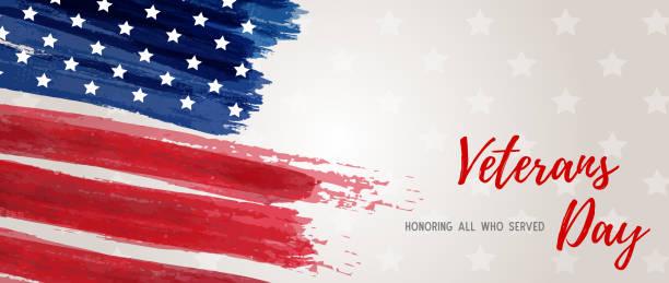 usa veterans day banner - veterans day stock illustrations