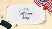Veterans Day Greeting Banner