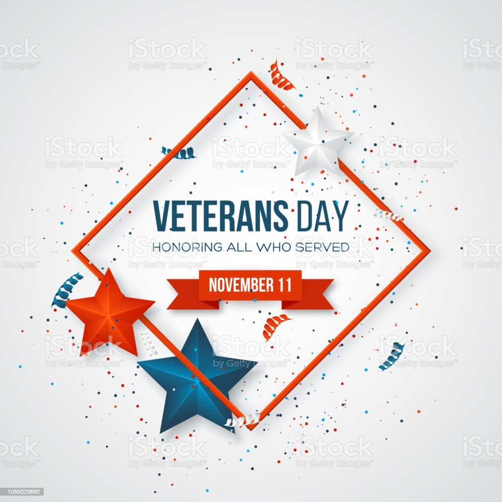 Veterans Day Greeting Card Stock Vector Art More Images Of