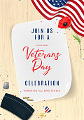 Veterans Day Greeting Party Invitation