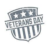 Veterans day grunge stamp - Illustration