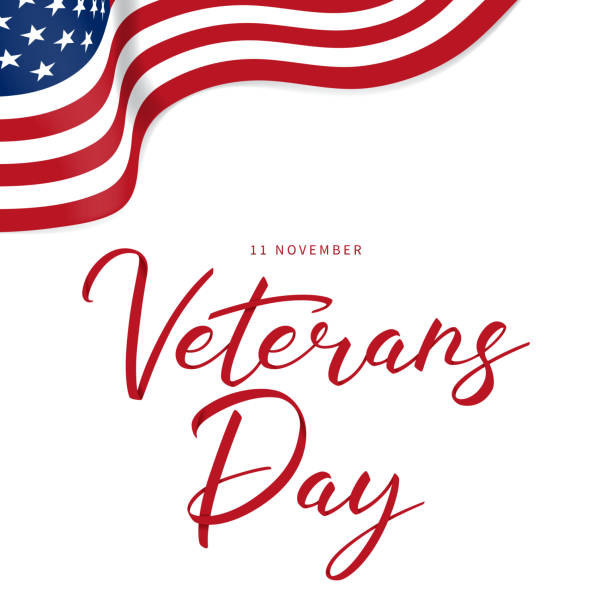 veterans day holiday card - columbus day stock illustrations