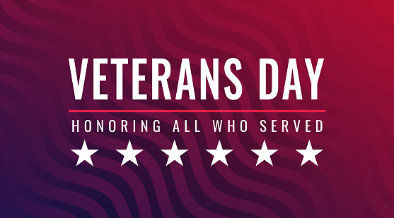 Veterans Day - Honoring All Who Served greeting card