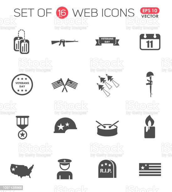 Veterans day icon set veterans day web icons for your project vector id1097438966?b=1&k=6&m=1097438966&s=612x612&h=cyq0gefukdgttzdwwnrjtcq lu9a1h1zmo gcubhu9k=