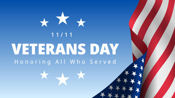 veterans day november 11th. honoring all who served greeting card - veterans day stock illustrations