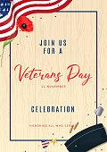 Veterans Day Party Celebration Flyer